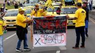 Taxifahrer vs. Uber