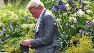 Abseits des Geschehens: Boris Becker am Donnerstag auf dem Gelände des Tennisturniers in Wimbledon.