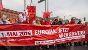 Protest im Zeichen der Europawahlen