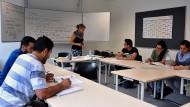 Lernen in der neuen Heimat: In den umgebauten Räumen im Kastengrund werden Flüchtlinge geschult.