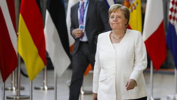 Merkel erwartet hartes Ringen um Juncker-Nachfolge