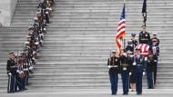 Washington: Die Trauerzeremonie für den früheren amerikanischen Präsidenten George H.W. Bush