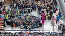 Koffer-Chaos am Düsseldorfer Flughafen
