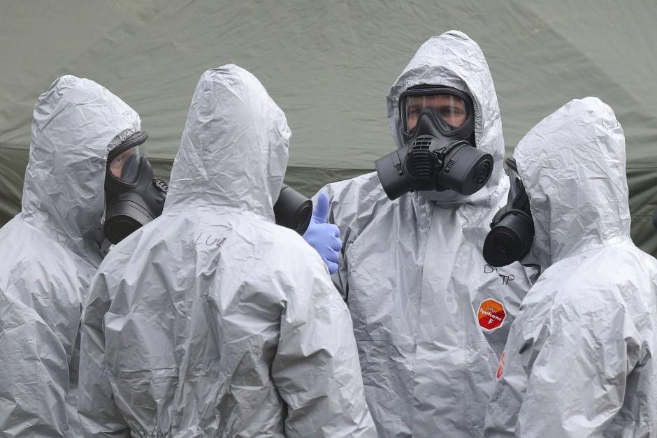 Sicherheitskräfte in Salisbury
