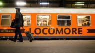 Noch hält sich der Andrang in Grenzen: Seit vergangenem Jahr versucht Locomore, der Bahn Konkurrenz zu machen.