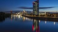 Blick auf die EZB in Frankfurt am Main