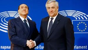 EU-Parlamentspräsident will bei Berlusconi-Wahlsieg Italien regieren