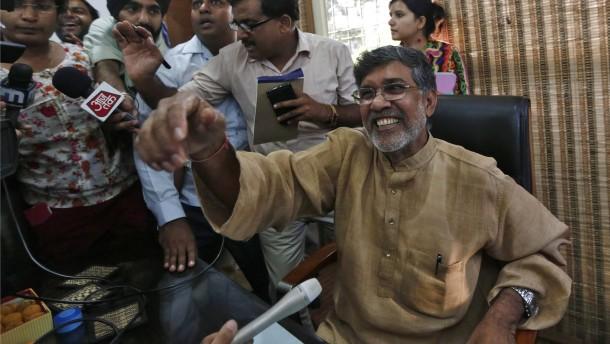 Friedensnobelpreis fuer kailash satyarthi kaempfer gegen kindersklaverei
