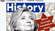 """Ein Tweet, der für sich spricht: Trump bezeichnet Clinton als """"Most Corrupt Candidate Ever"""""""