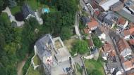 Perspektivwechsel: Sonst schauen die Bürger von unten auf Burg Eppstein.