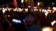 Lichtermeer in Caracas