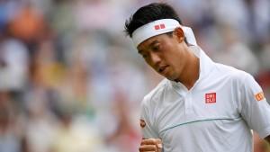 Nishikori positiv auf Corona getestet