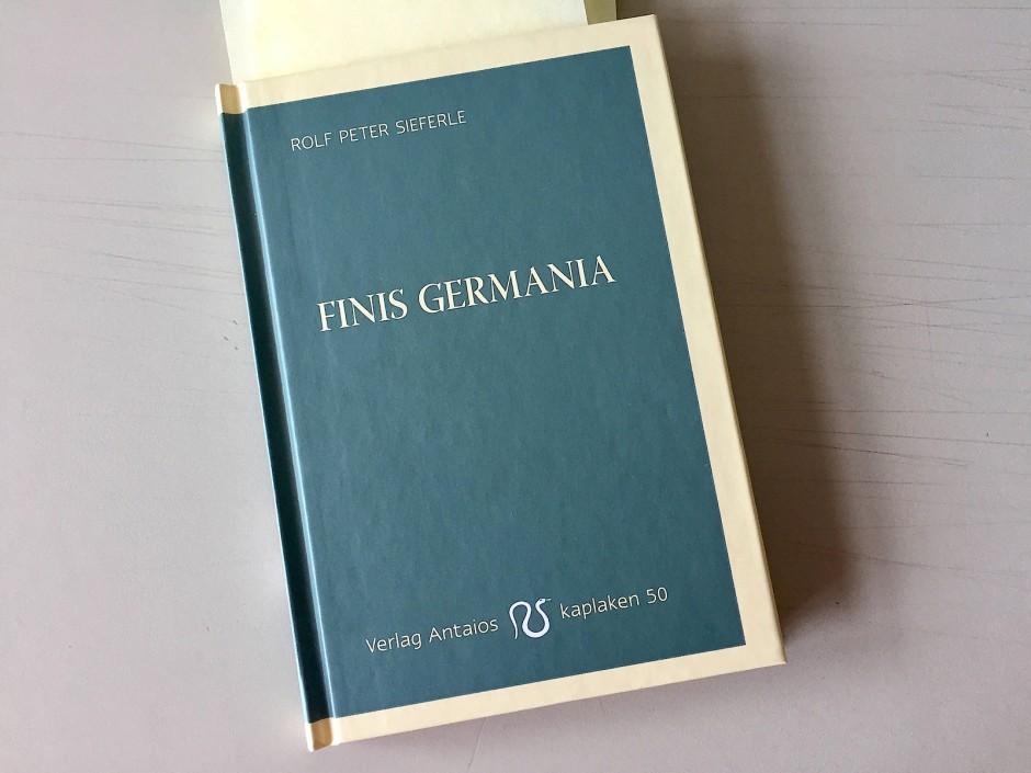 """""""Finis Germania"""" von Sieferle: Warum der """"Spiegel"""" das"""