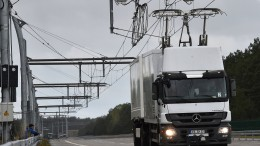 Startschuss für ersten eHighway - Lastwagen mit Strom aus Oberleitung