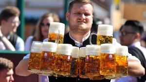 Sonniger Start ins Oktoberfest in München