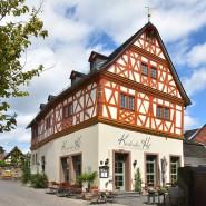 """Das """"Haus Lamberti"""" prägt wieder den Ortskern und beherbergt das Restaurant Kiedricher Hof."""