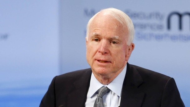 U.S. Senator John McCain speaks at the Munich Security Conference in Munich