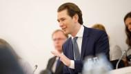 Der österreichische Bundeskanzler Sebastian Kurz (ÖVP) am Montag in Wien