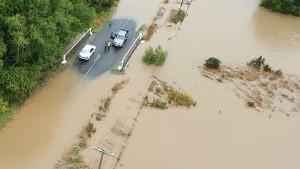 Überschwemmungen und Erdrutsche in Neuseeland