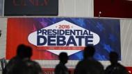 Drittes TV-Duell Clinton gegen Trump