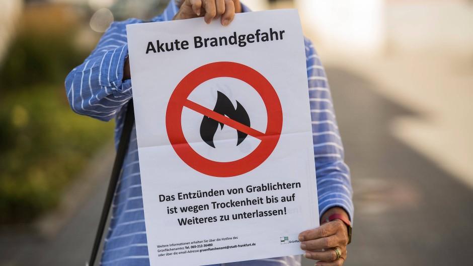 Frankfurt verbietet das Grillen auf allen öffentlichen Plätzen, in Parks und Grünanlagen.