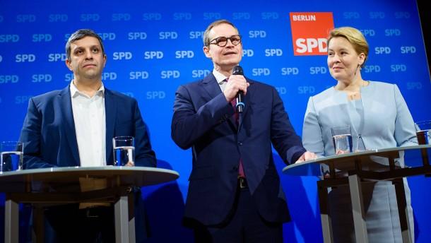 Giffey zur neuen SPD-Chefin in Berlin gewählt