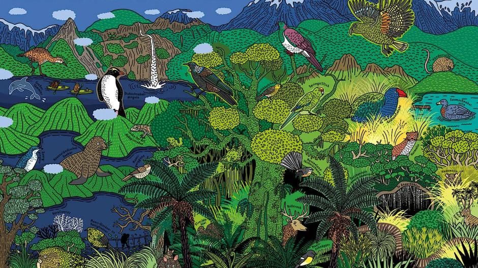 Neuseeland neu sehen: Auch vom Fiordland-Nationalpark machen sich Mizielinska und Mizielinski ihr eigenes Bild.