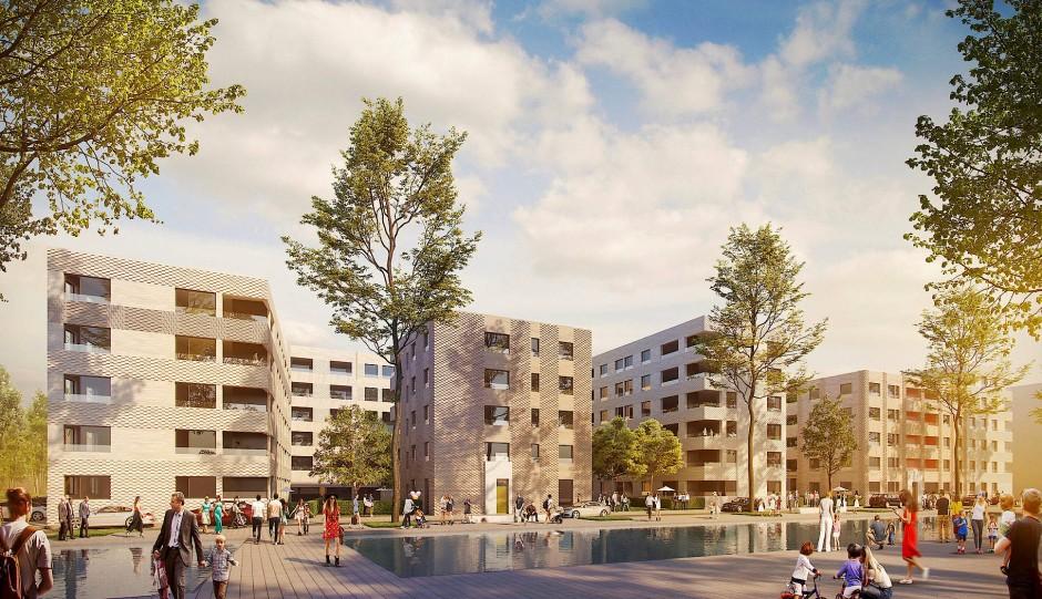 """170 Wohnungen, ein Viertel davon preisgünstig, sollen auf dem Baufeld """"Rheinallee IV"""" gebaut werden."""