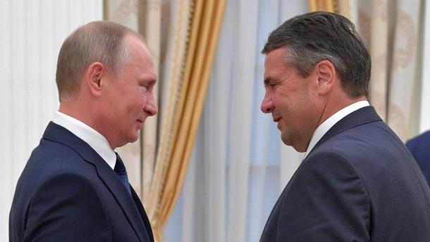 Grüne fordern Aufklärung über Treffen zwischen Gabriel, Schröder und Putin