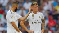 Ein Lichtblick und ein Sorgenkind: Reals Stürmer Karim Benzema und sein deutscher Teamkollege Toni Kroos