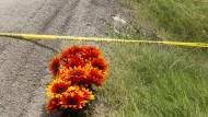 Trauer in Texas: Anwohner legten Blumen am Unglücksort nieder.