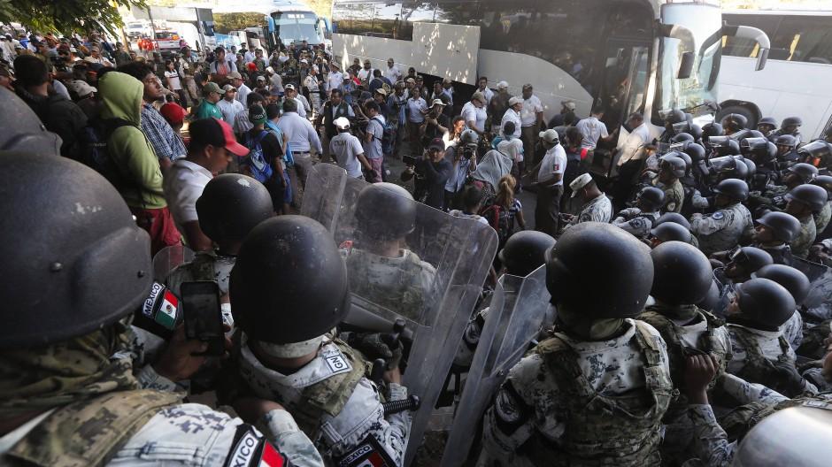 Erneut Gewalt an mexikanischer Grenze