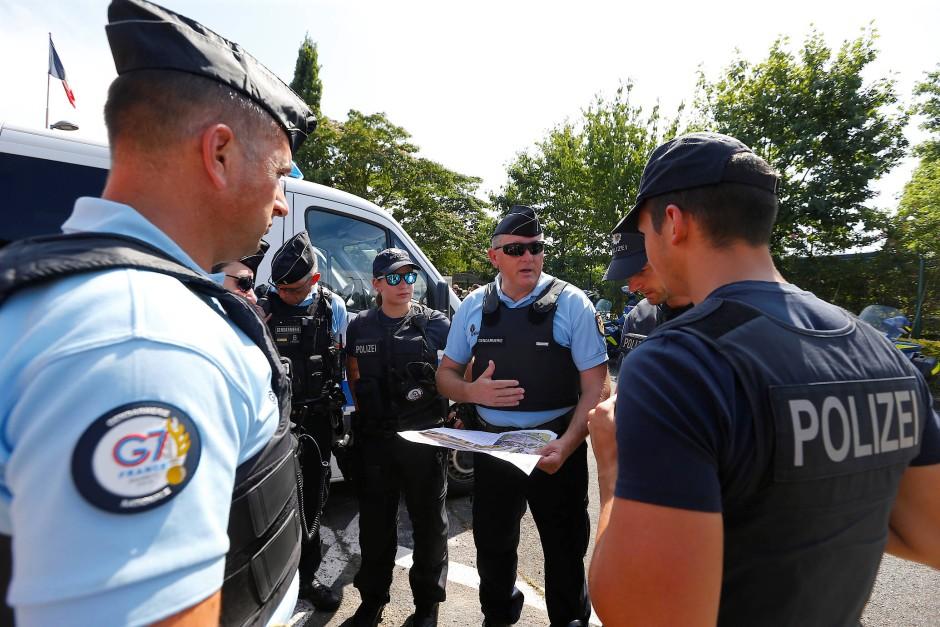 Bestens vorbereitet: Während des G-7-Gipfels sind 13.200 Polizisten in und um Biarritz im Einsatz.
