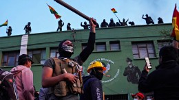 Polizisten protestieren gegen Boliviens Präsident Morales