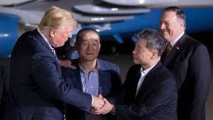Trump: Freilassung amerikanischer Bürger gutes Omen für Gipfel