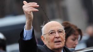 Napolitano weist Spekulationen über Rücktritt zurück