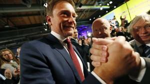Lindner mit 91 Prozent als FDP-Chef wiedergewählt