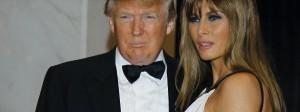 Donald Trump mit seiner Frau Melania beim Presse-Dinner 2011