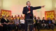 Der frühere britische Premierminister Gordon Brown im September 2014, wenige Tage vor dem Referendum, im schottischen Clydebank