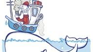 Schön breit mit Moby Dick