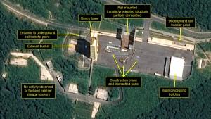 Nordkorea baut Raketen-Startanlage ab