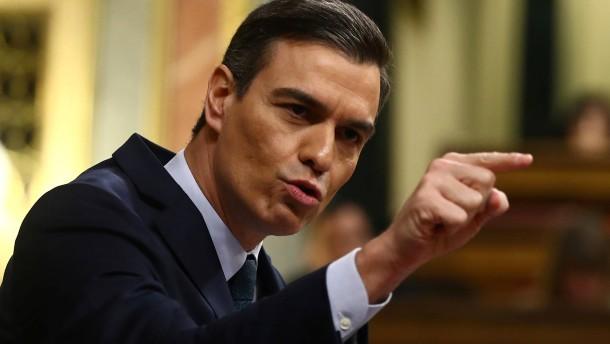 Vor einer Rolle rückwärts in Spanien
