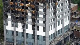 """Ein """"Katalog des Versagens"""" führte zu Brand in Grenfell Tower"""