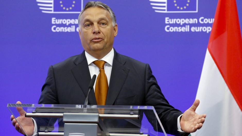 Der ungarische Ministerpräsident, Viktor Orbán, in Brüssel