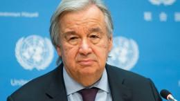 UN-Chef mahnt zu Zurückhaltung