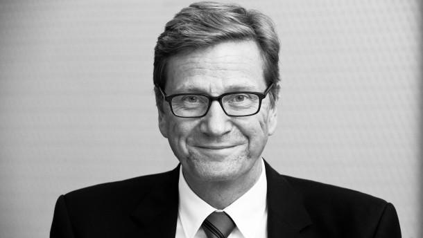 Guido Westerwelle - Der deutsche Außenmininster (FDP) spricht in seinem ...