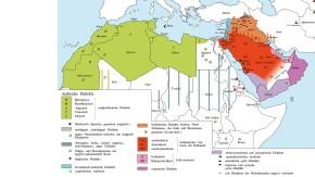 Infografik / Arabisch Dialekte /Arabisch