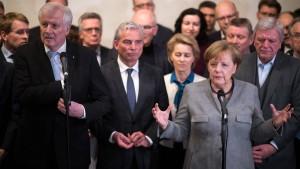 Merkels schwerer Gang