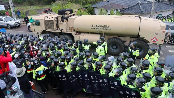 Amerika stationiert Raketenabwehr in Südkorea