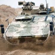 """Ein Radpanzer """"Boxer"""" der Bundeswehr in Masar-i-Scharif in Afghanistan, 2012"""